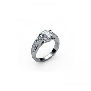 Exkluzívny zásnubný prsteň s diamantom 1.00 ct,