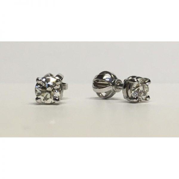 Náušnice s diamantmi