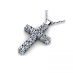 prívesok krížik s diamantmi