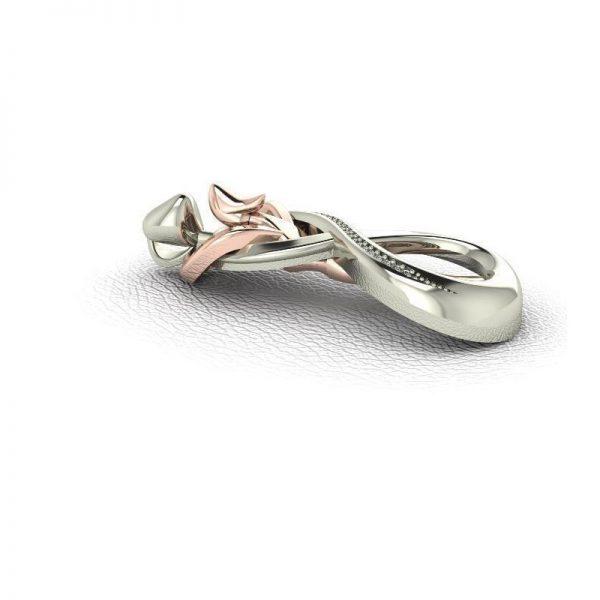 Moderný prívesok s diamantmi, muž a žena