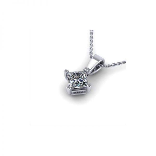 Prívesok s diamantom princess 0.50 ct