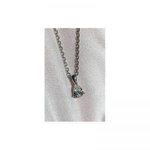 Prívesok s diamantom pear - slza