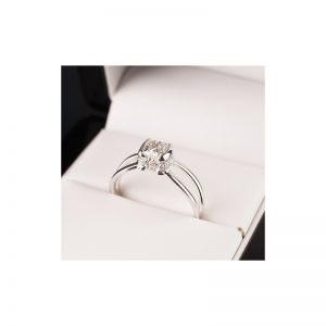 Exkluzívny zásnubný prsteň s diamantom 0.50 ct, Cushion,