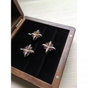 Diamantová súprava s ametystom