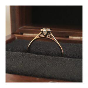 Zásnubný prsteň s diamantom 0.30 ct,