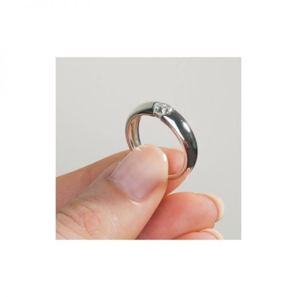 Zásnubný prsteň s diamantom 0.20 ct,