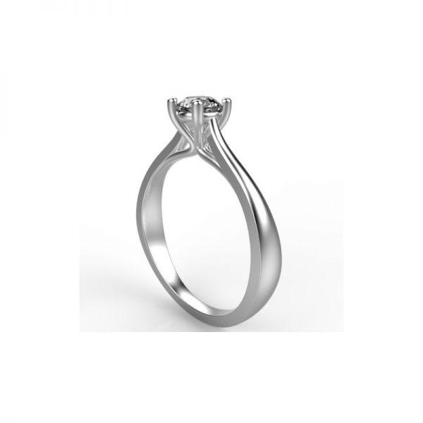 Zásnubný prsteň s diamantom 0.30 ct, cartier,
