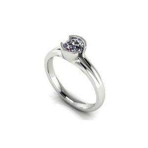 Moderný zásnubný prsteň s diamantom 0.50 ct