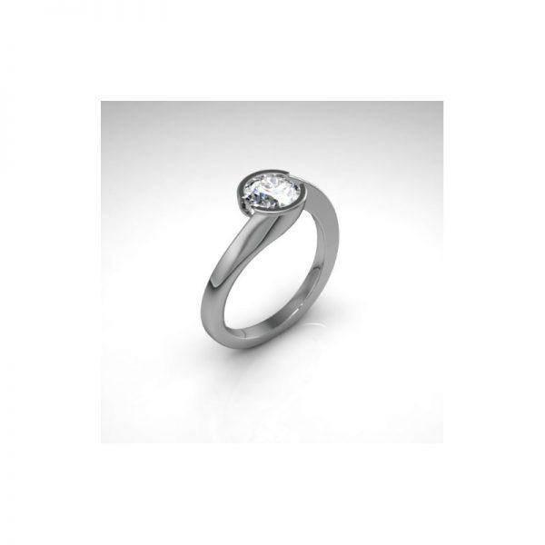 Exkluzívny zásnubný prsteň s diamantom 1.00 ct