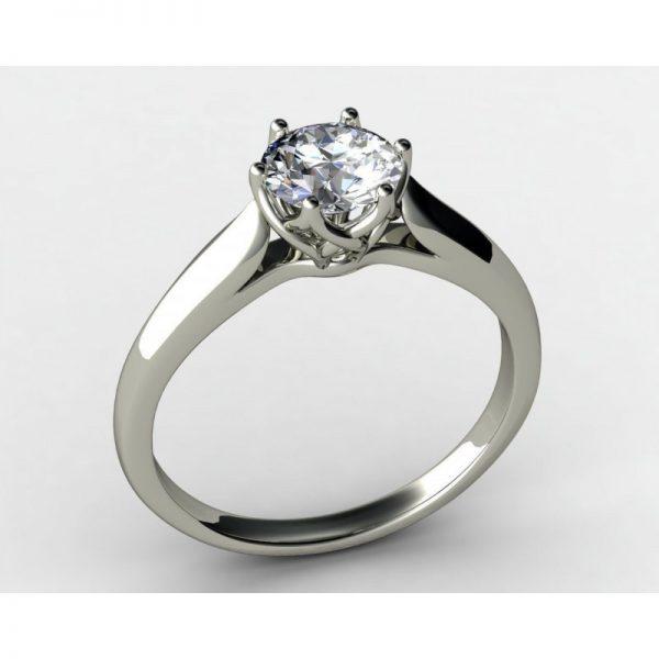 Romantický zásnubný prsteň s diamantom 0.80 ct