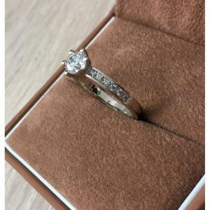 Ekluzívny prsteň s diamantom 0.50 ct