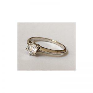 Romantický zásnubný prsteň s diamantom 0.50 ct,